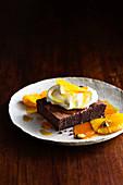 Chai brownies with cardamom caramel orange