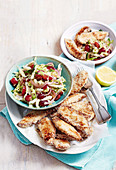 Sesame-crumbed Baked Chicken with Slaw