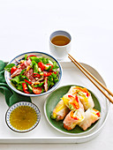 Thai Salad and Rice-Paper Platter