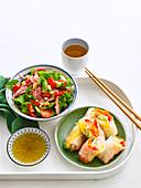 Thai Salad and Rice-Paper Platter