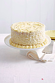 Layered coconut sponge cake