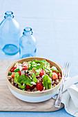 Lamm-Couscous-Salat mit Broccolipesto