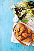 Crunchy buttermilk and rosemary chicken wings