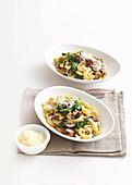 Mushroom and spinach orecchiette