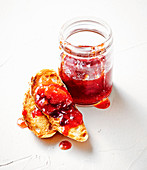 Plum and rose petal jam