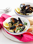 Lemon Fennel And Garlic Mussels
