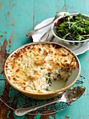 Kartoffelauflauf mit Spinat und Thunfisch