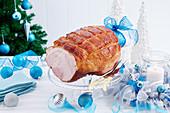 Glasierter Barbecue-Schinken (Weihnachten)