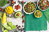 Family Sides - Do the Salsa - Mexican salsa, Minted mango salsa, Mixed tomato salsa
