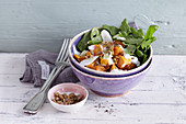 Rocket and sweet potato salad with Greek yoghurt