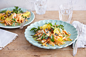 Sweet potato and orange salad with parsley