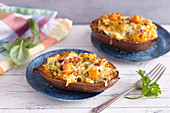 Doubled Baked Sweet Potatoes