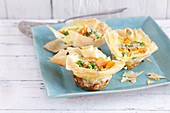 Filo pastry sweet potato tartlets with sour cream