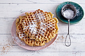 Light sweet potato and cinnamon waffles