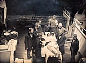 Re-enactment of first anaesthesia, 1840s
