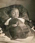 Child post-mortem portrait, 1850s