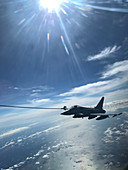 Eurofighter Typhoon fighter jet refuelling