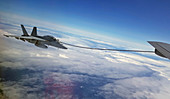 F-18 Hornet fighter jet refuelling