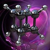 Cubane molecule