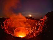 Santiago crater lava lake, Masaya caldera, Nicaragua