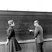 Gaillard and Gell-Mann at CERN, April 1972