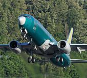 Passenger jet taking off