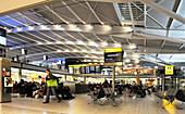 Gate in airport terminal