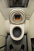 Passenger plane toilet