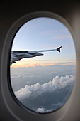 Airbus A380 wing and window