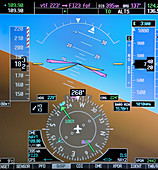 Flight simulator instrument display