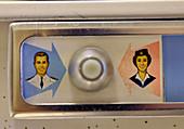 Attendant call button in private jet