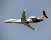 Embraer Legacy 600 private jet in flight