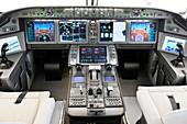 UAC MS-21 aircraft cockpit mock-up