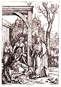 Christ taking leave of his Mother' by Albrecht Durer