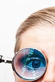 Eye test and genetics, conceptual image