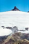 Summit of Snaefellsjokull volcano, Iceland