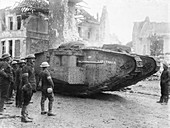 British tank 'Lusitania' at Arras, First World War