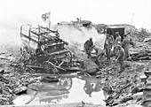 Destroyed German ambulances, First World War