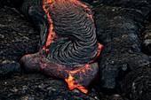 Lava flow from Kilauea, Hawaii, USA