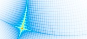 Network grid, quantum computing concept