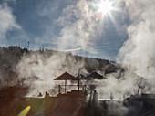 Pagosa Springs hot baths, Colorado, USA