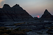 Sunset over Badlands National Park, South Dakota, USA