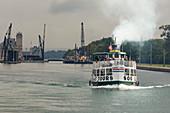 Tour boat, Soo Locks, Michigan, USA