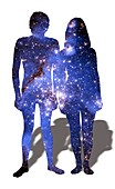 Star couple, illustration