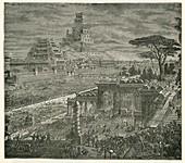 Persian capture of Babylon, 19th-century illustration