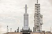 Falcon Heavy launch preparation