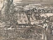 Albrecht Durer's 'Landscape with Cannon', 1518