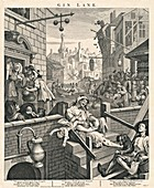 'Gin Lane' by William Hogarth, 1751