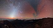 Milky Way over Haleakala crater, Hawaii