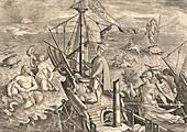Vespucci off the coast of the Americas, 1499